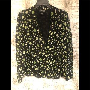 Green and black style & Co blouse